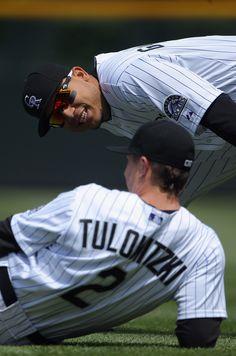 Troy Tulowitzki Wife Carlos Gonzalez | Carlos Gonzalez and Troy Tulowitzki Photos - New York Mets v Colorado ...