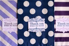 Wedding favor candy bags with thank you label by Justabitofpaper, $10.00