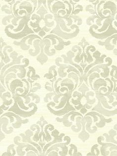 Damask wallpaper - might use for upper wall in dining room or small powder room downstairs
