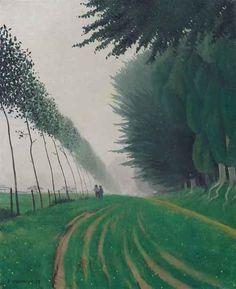 Something to View, peira: Felix Vallotton: Effet de brume, Honfleur. Mountain Landscape, Landscape Art, Landscape Paintings, Honfleur, Art Archive, Art Inspo, Painting & Drawing, Illustration Art, Illustrations