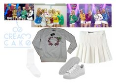 """""""Red Velvet - Ice Cream Cake"""" by marissa-malik ❤ liked on Polyvore featuring adidas and Y's by Yohji Yamamoto"""