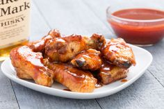 Slow-Cooker Barbecue-Bourbon Chicken Wings  - Delish.com