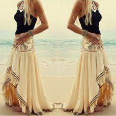 Stylish Bohemian Asymmetrical Skirt – Daisy Dress For Less
