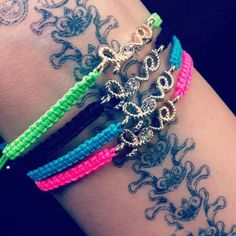 Neon Love Bracelets. $9.99