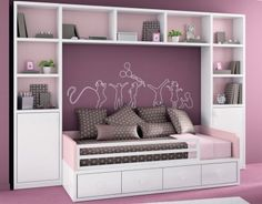POP bed and shelving