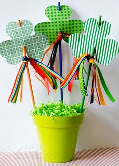 FREE Printable Shamrock Rainbow Wands by Love The Day