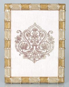 "Just love this -- Pierce Striped 5"" x 7"" Frame by Jay Strongwater at Neiman Marcus."