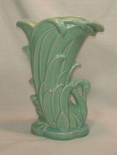 McCoy swan vase...