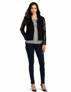 Kenneth Cole Women's Moto Zip Jacket « Clothing Impulse Cute Jackets, Jackets For Women, Clothes For Women, Women's Jackets, Best Online Shopping Sites, Shopping Deals, Shopping Websites, Trendy Clothing Stores, Vip Fashion Australia