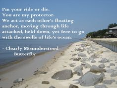 Clearly Misunderstood Butterfly Anchor Ride or die
