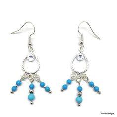 A personal favorite from my Etsy shop https://www.etsy.com/listing/251143111/turquoise-earrings-teardrop-earrings