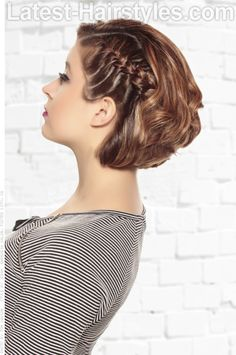 Graduated Bobbed Hair with Braid Side