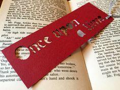 Bookmark Handmade bookmark Mini gift Paper by CarolineArgo on Etsy