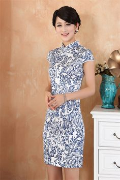Smart collar fashion Chinese dress cheongsam