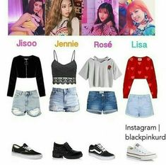 Pin by providence angelina on black pink inspired outfits in Kpop Fashion Outfits, Blackpink Fashion, Stage Outfits, Dance Outfits, Outfits For Teens, Korean Fashion, Pink Outfits, Chic Outfits, Looks Kawaii