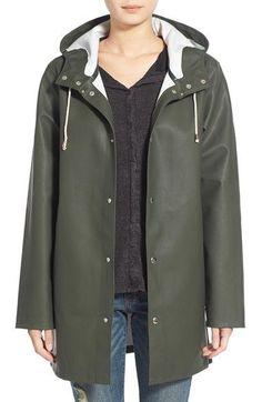 Stutterheim 'Stockholm' Waterproof Hooded Raincoat available at #Nordstrom #RaincoatsForWomenWeather