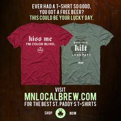 Get #pubcrawl ready with great tees from #FINNEGANS & mnlocalbrew.com