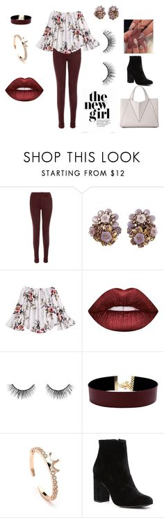 """""""Spring meets Fall"""" by hrockholt ❤ liked on Polyvore featuring J Brand, Lime Crime, tarte, Vanessa Mooney and Witchery"""