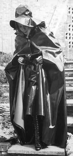 Heavy Rubber, Black Rubber, Capes & Ponchos, Rain Cape, Rubber Raincoats, Pvc Raincoat, Plastic Pants, Rain Gear, Weather Wear