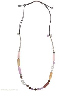 Fields of Lavender Necklace - Amethyst, Shell, Glass, Pearl, Pyrite, Cubic Zirconia, Sterling Silver.