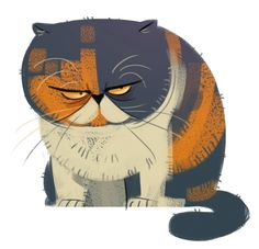 Pudge ~ via Daily Cat Drawings ~ More on #cats - Get Ozzi Cat Magazine here >> http://OzziCat.com.au
