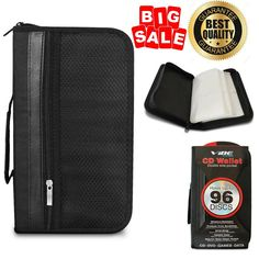 96 Disc CD DVD Wallet Storage Auto Travel Car Storing Organizer Padded Case TAX0 #Vibe #ProtectsfromScratches