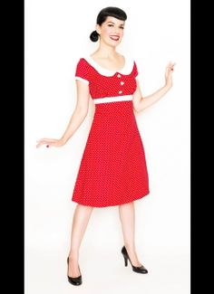 Rockabilly Olive Oyl - red top inspiration. Add black hi waist skirt with yellow ricrac stripe, and comfy black flats or wedges