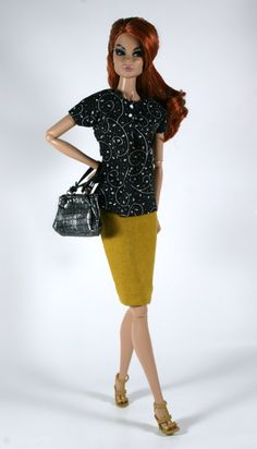 Blouse and Skirt for Barbie Silkstone Fashion by ChicBarbieDesigns