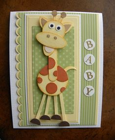 019  baby giraffe card. too cute!