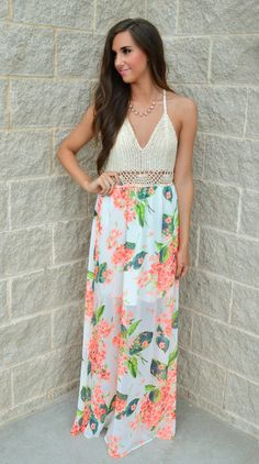 Welcome 2 Miami Floral Maxi Dress