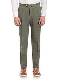SLOWEAR Modern-Fit Chinolino Pants - Medium Blue - Size 34