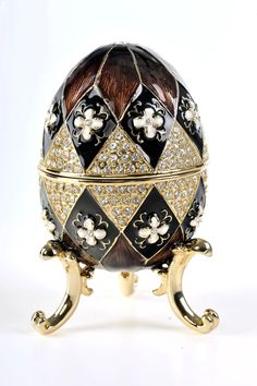 Faberge Egg Music Box How I wish I had this as i collect music boxes..K♥