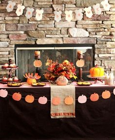 Baby shower for fall....or just cute onesie banner for a shower