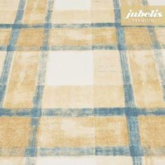 Beschichtete Baumwolle abwaschbar Pablo blau-beige H