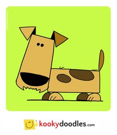 Learn how to draw this cartoon dog illustration at kookydoodles.com or http://stevedarling.net/how-to-draw-a-spotty-dog/