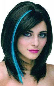 blue hair streaks medium length - Google Search