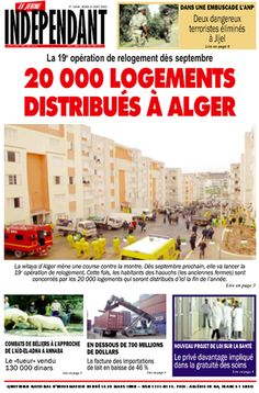 La 19e opération de relogement dès septembre: 20 000 LOGEMENTS DISTRIBUÉS À ALGER.... www.kioscom.com
