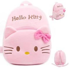 Hot sale kids school bags cute cartoon hello kitty kids school bag comfortable plush kids backpack hello kitty toddler backpack