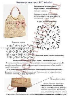 Bag Crochet Patterns Archives - Beautiful Crochet Patterns and Knitting Patterns Free Crochet Bag, Crochet Clutch, Crochet Handbags, Crochet Purses, Filet Crochet, Irish Crochet, Crochet Bags, Crochet Stitches Chart, Knitting Patterns