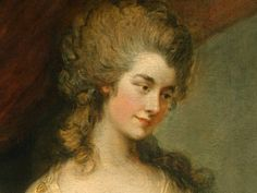 Detail of a portrait of Georgiana,the Duchess of Devonshire by Thomas Gainsborough, painted in 1783.