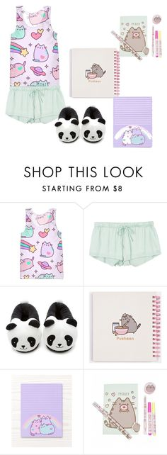 """""""Pusheen Pijama Addict"""" by manuelahs on Polyvore featuring moda, Pusheen, RVCA y Forever 21"""