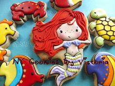 Mermaid Cookie Platter / Birthday Girl Cookies by NYCookiesByVictoria, via Flickr