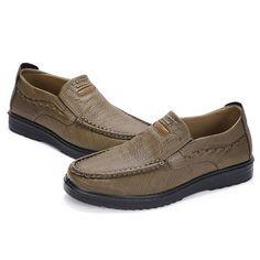 29ec1a1c2601de Large Size Men Microfiber Leather Slip On Comfortable Casual Shoes