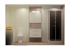 Innostavia kph-ideoita maailmalta, kylpyhuonesuunnitelma K-rauta Viro (huom. tuotevalikoima vaihtelee maittain). A bathroom design from K-rauta Estonia. Please note that the sortiment varies from country to country.