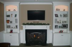 fireplace hearth ideas with built in surrounds | BC178: Ornate Fireplace Bookcases (Existing Mantel)