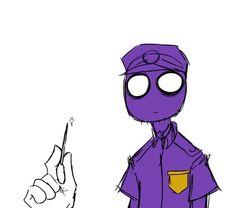 Purple Guy Reaction To Murder Weapons Part 4 Fnaf Photos, Vincent Fnaf, Fnaf Security Guards, Fnaf Night Guards, Purple Crayon, Scary Games, William Afton, Freddy 's, Fnaf Sister Location