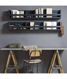 See my Inspiring Industrial Home Office Ideas which include an industrial office desk, concrete chair, black clamp lamp and wall wire storage shelving rack Industrial Home Offices, Rustic Home Offices, Industrial Apartment, Industrial House, Industrial Workbench, Industrial Windows, Industrial Lighting, Industrial Furniture, Vintage Industrial