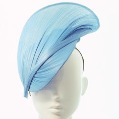 Bleu ciel Meg Hat - Spring Racing Carnival, Bespoke coiffure, coupe de Melbourne