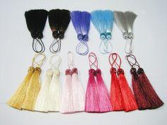 20 Pieces Long Silk Tassel with Glitter Ribbon,Tassel set, Colorful Tassel, Rainbow, Accessories, Wholesale Tassels, tassel earring,bracelet...