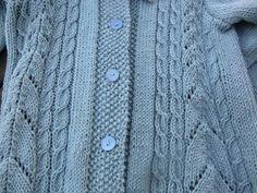 veste en laine drops design